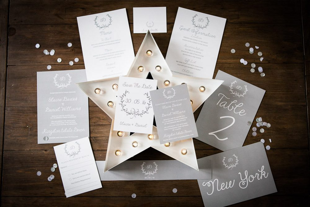 Gorgeous wedding stationary by Studio Blush Designs