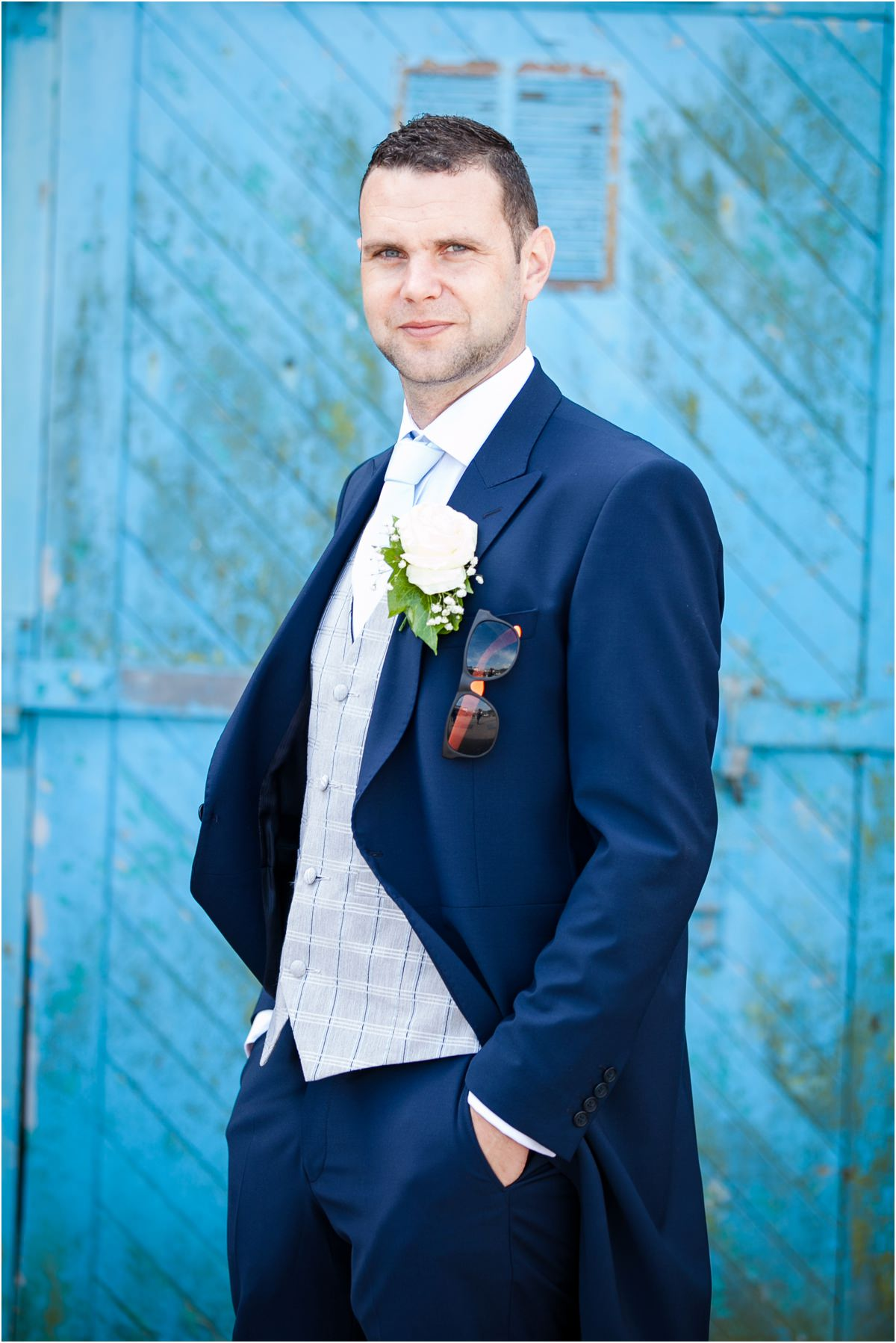 Groom portrait at Tenby Harbour