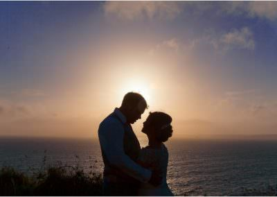 Beach wedding photography at Druidstone Hotel