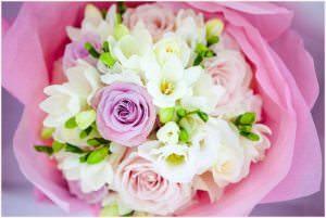 pastel toned rose bouquet