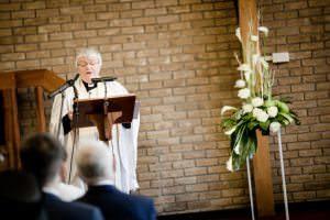vicar conducting ceremony