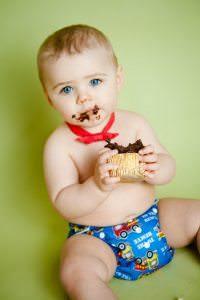 Swansea cake smash photographer - 1st birthday cake smash
