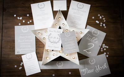 Gorgeous wedding stationary by Studio Blush Designs