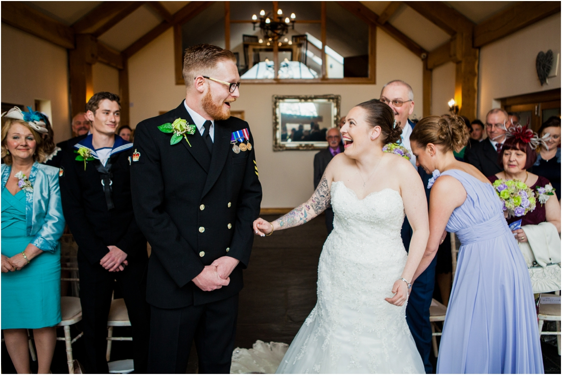 bride and groom see eachother for the first time