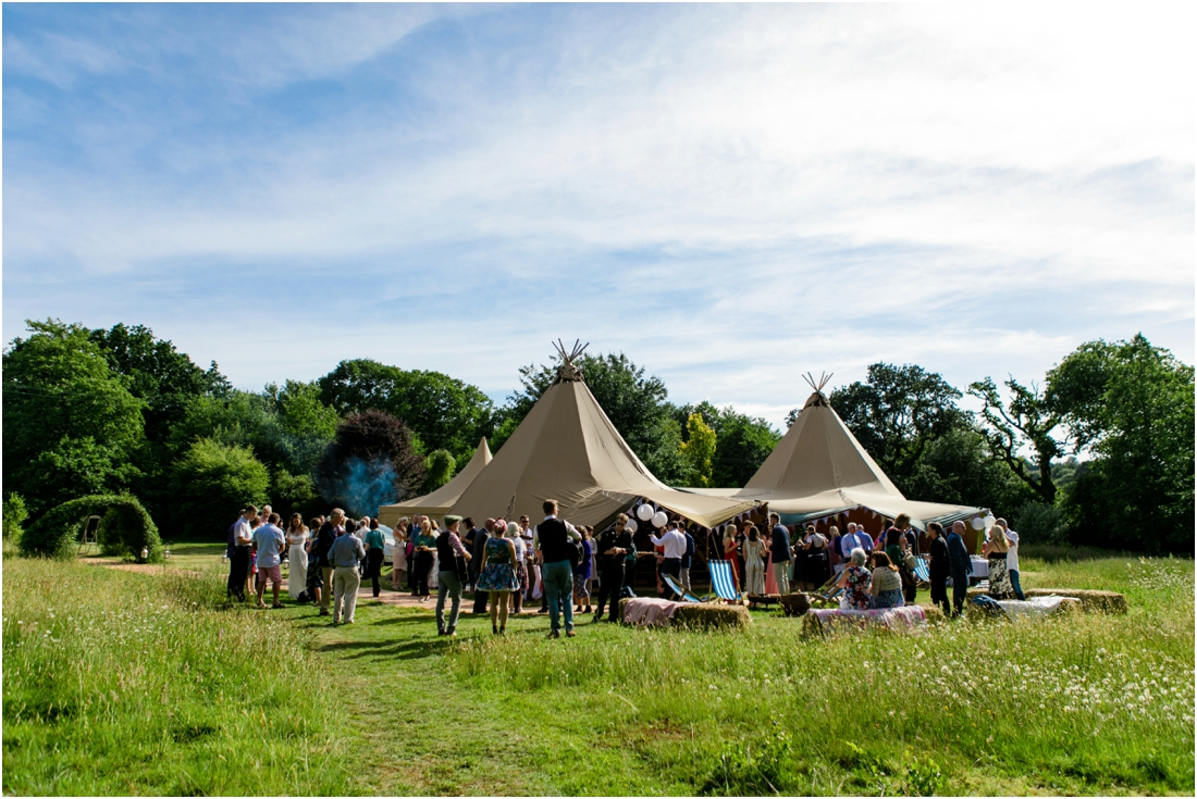 summer tipi wedding