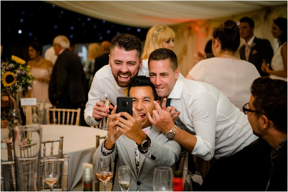 wedding guests selfie