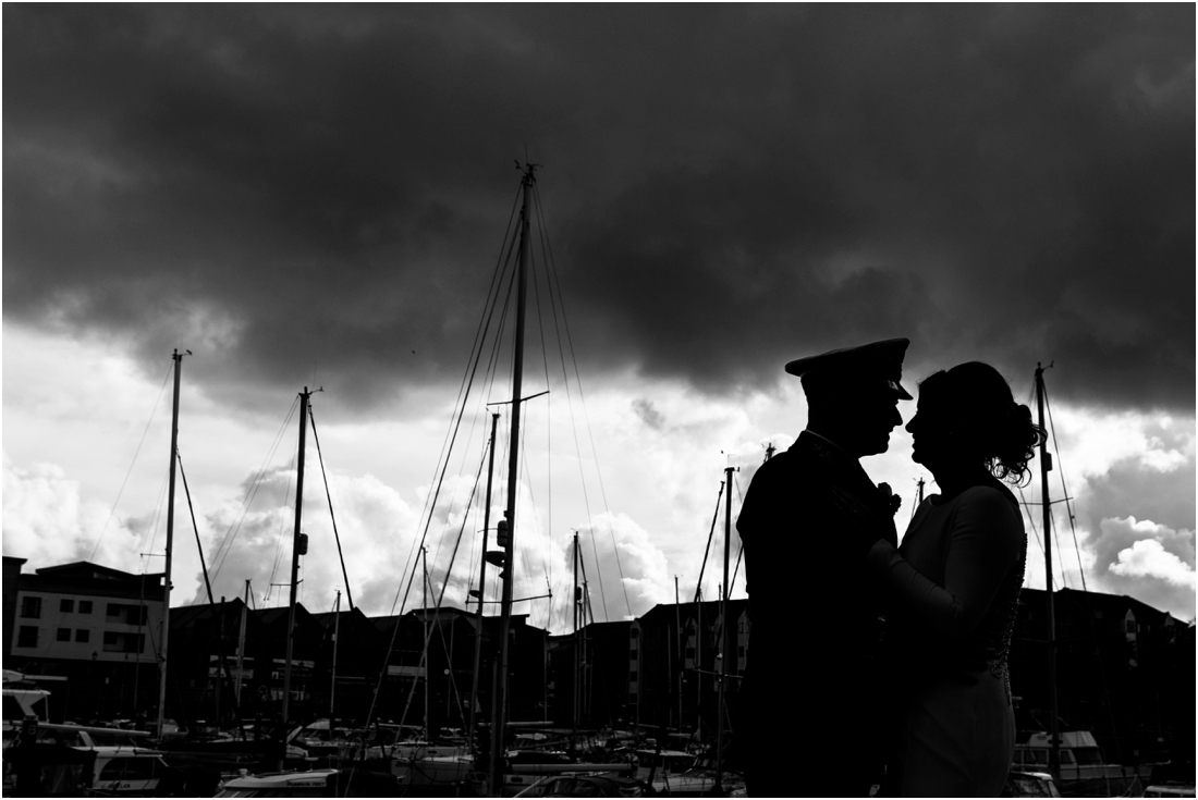 sailor wedding silhouette