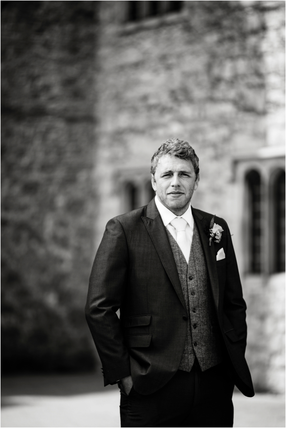 groom portrait at st donats