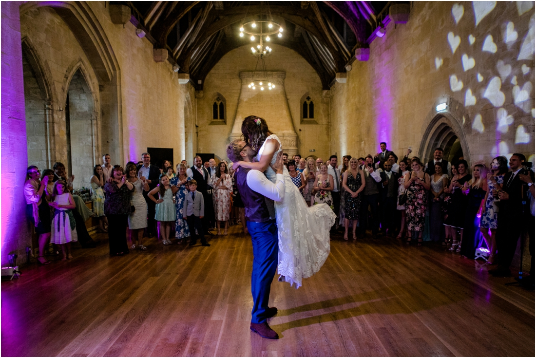 bride and groom first dance at St Donats