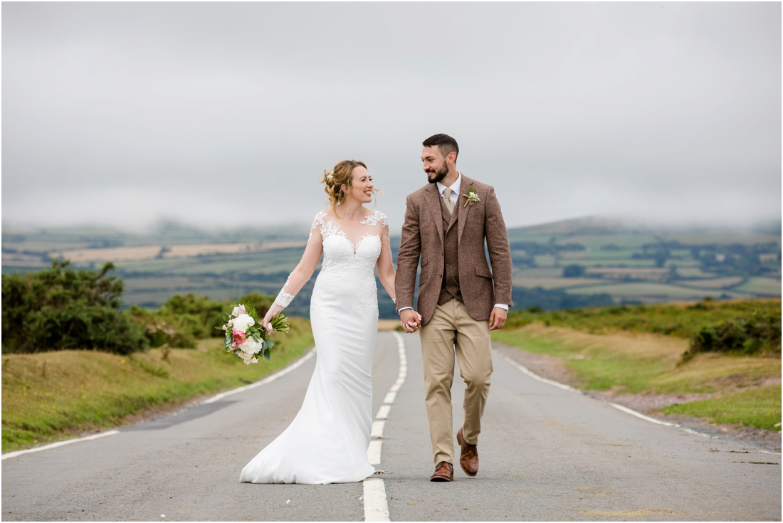 bride and groom in the Gower